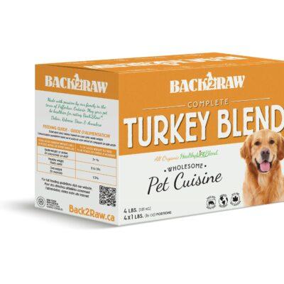 back 2 raw complete 4lb turkey